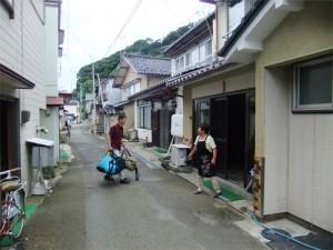 民宿の仕事_荷物運び